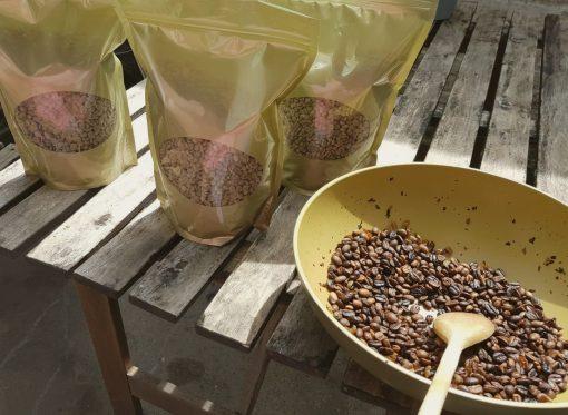Groene ongebrande koffiebonen test pakket