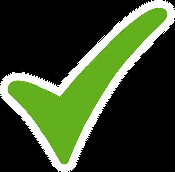 Afbeeldingsresultaat voor groen vinkje