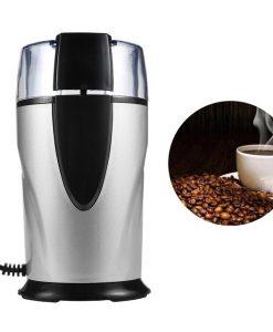 Elektrische koffiemolen staal voorkant