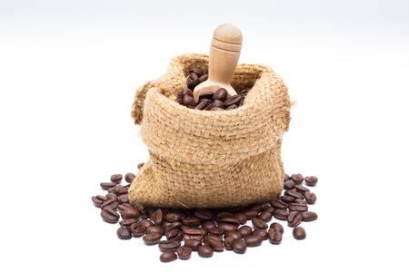 biologische koffiebonen in zak