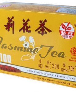 Groene Jasmijn Thee uit China Sprouting 200 gram zijkant